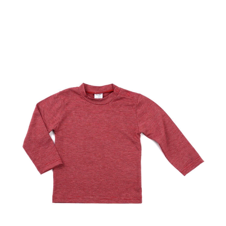 เสื้อยืดแขนยาวเด็กผู้ชาย รุ่น FFT098FTAG63 สีแดง ไซส์ 2