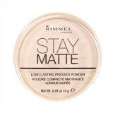 Rimmel London Stay Matte Long Lasting Pressed Powder No 001 Transparent 14G ใน กรุงเทพมหานคร