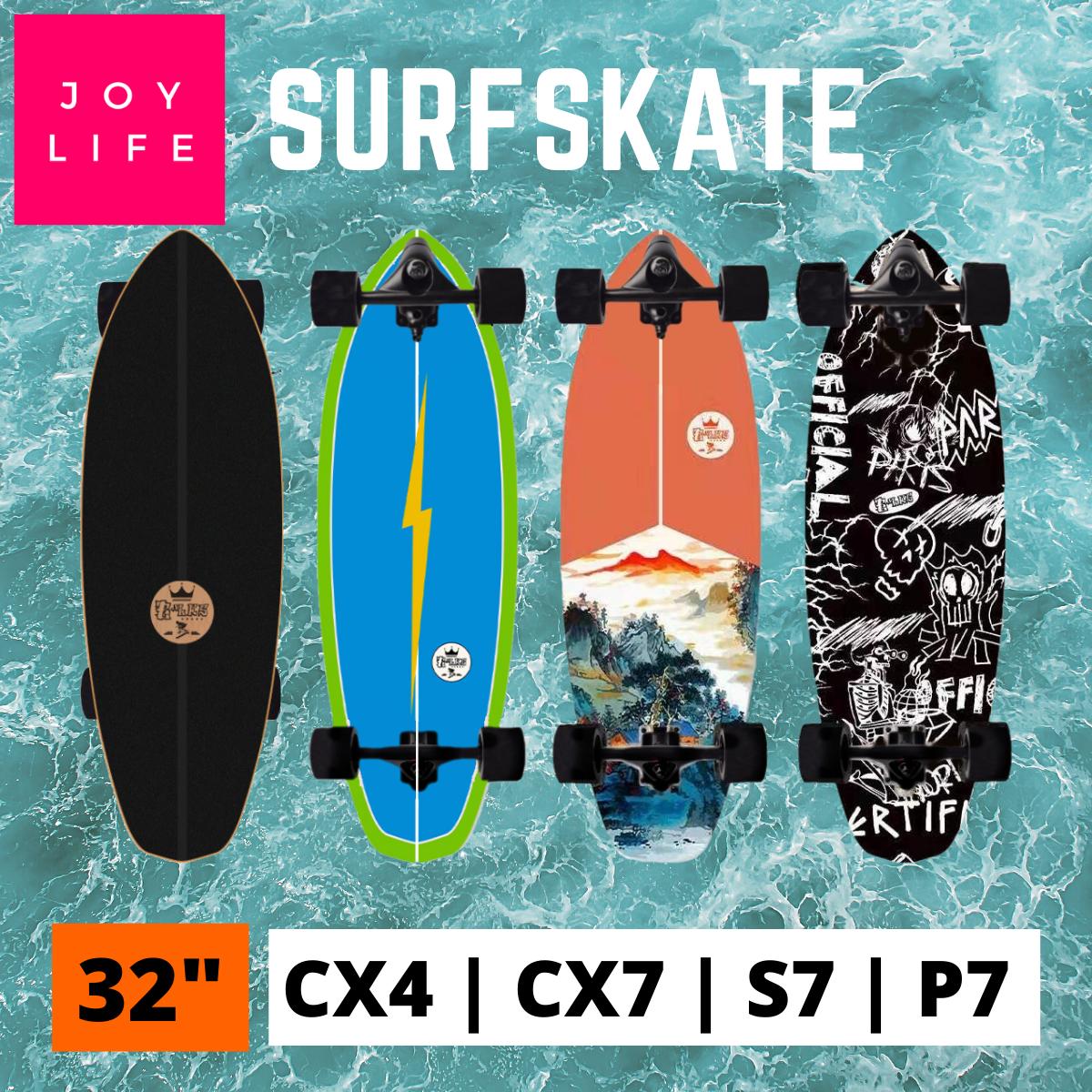 ส่งจากไทย! Blks เซิร์ฟสเก็ต 32 นิ้ว ทรัค Cx4 Cx7 S7 P7 (waterborne) Surfskate 32 ผู้ใหญ่ ของแท้ สเก็ตบอร์ด Skateboard.