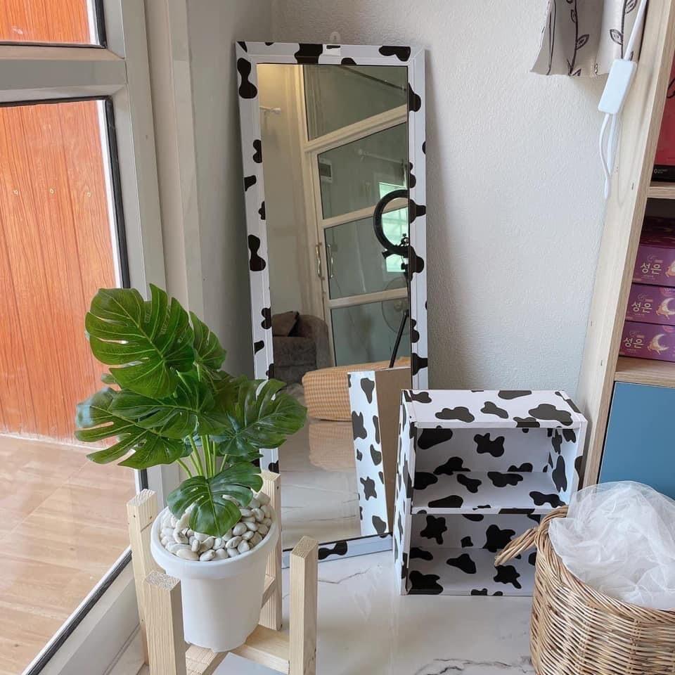 กระจกมินิมอลแต่งห้องน่ารักส่องได้ทั้งตัว.
