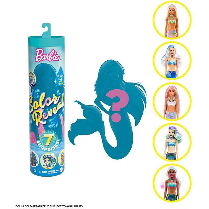 Barbie Color Reveal™ Doll ตุ๊กตา บาร์บี้ เปลื่ยนสี บาร์บี้จุ่มน้ำ บาร์บี้กระป๋อง ของแท้ Gtp43 Id