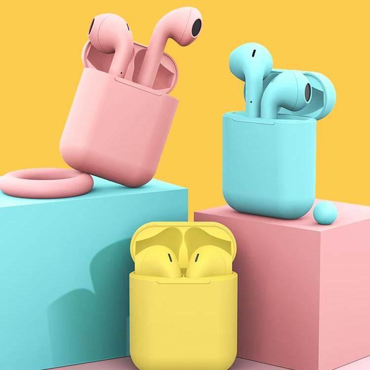 หูฟังairpods I12 Tws พร้อมกล่องชาร์จ หูฟังบลูทูธไร้สาย Bluetooth V5.0 Ios Androidหูไร้สายขนาดมินิ สำหรับ ไอโฟน, ซัมซุง, ออปโป้, หัวเหว่ย, วีโว่, เสี่ยวมี่และโทรศัพท์มือถือรุ่นอื่น ๆbluetooth Headset 5.0.