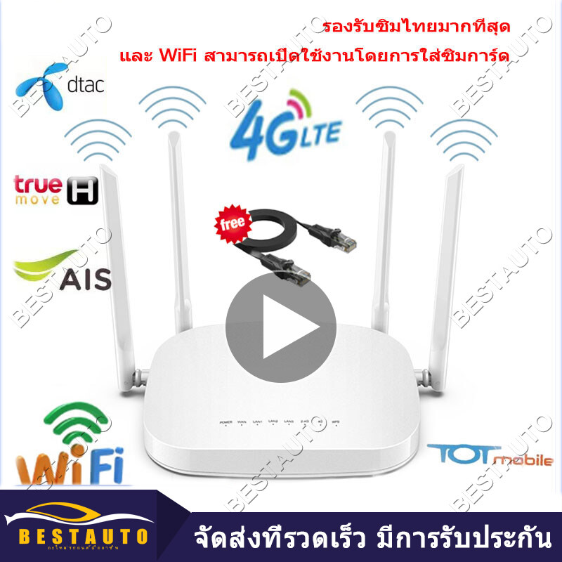 【กรุงเทพจัดส่งที่รวดเร็ว】เราเตอร์ใส่ซิม 4g ใช้งานง่าย รองรับทุกค่าย เราเตอร์ เร้าเตอร์ใสซิม ราวเตอร์wifi ราวเตอร์ใส่ซิม ใส่ซิมปล่อย Wi-Fi 300mbps 4g Lte Sim Card Wireless Router Wifi 4g ใส่ซิม ทุกเครือข่าย รองรับการใช้งาน Wifi.