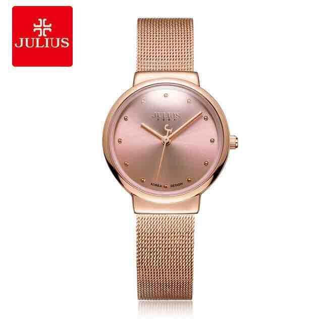 นาฬิกาข้อมือ Julius รุ่น Ja-426l แบรนด์เกาหลีแท้ 100% ประกันศูนย์ไทย สายสแตนเลสถัก Minimalist By Watch2chic.