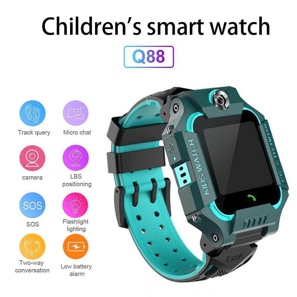 Ridoshopthai ใหม่ Q88 Smart Watch นาฬิกาข้อมือเด็ก สมาร์ทวอทช์ อัจฉริยะ GPS ติดตามตำแหน่ง Anti Lost Monitor (ส่งไว 1-3 วัน พร้อมรับประกันสินค้า)