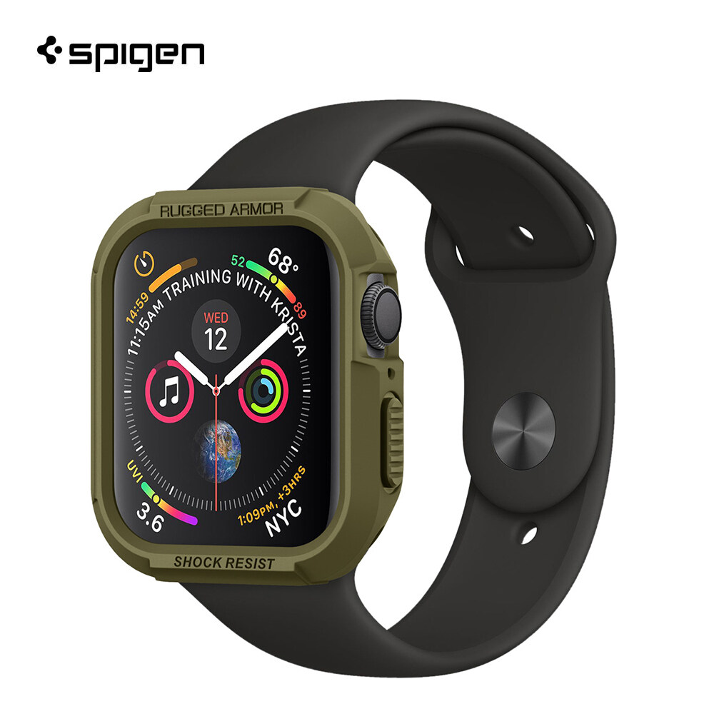 Spigen เคส Apple Watch 5/4 (44mm) Case Rugged Armor : Black.