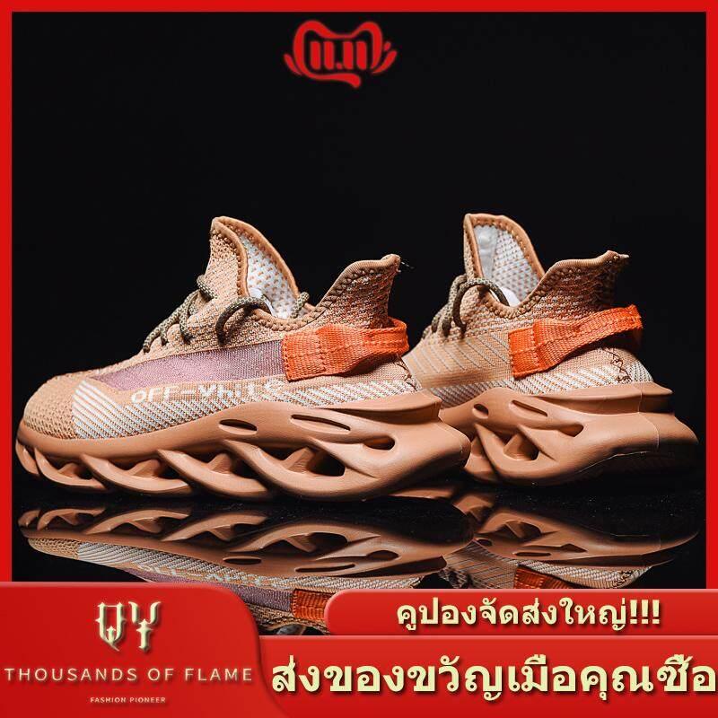 QY 2019 รองเท้าวิ่งรองเท้าผ้าใบรองเท้าคู่รองเท้าผู้ชายรองเท้าผู้หญิงรองเท้าลำลองรองเท้าผ้าระบายอากาศ