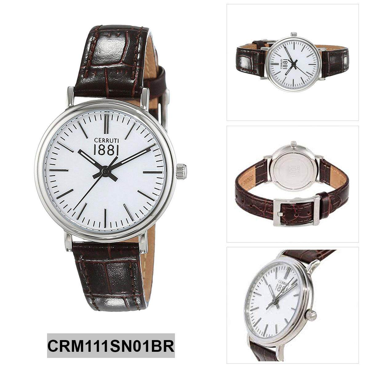 d5ee515e2a Cerruti Fabriano Brown Stainless-Steel Case Leather Strap Ladies  CRM111SN01BR