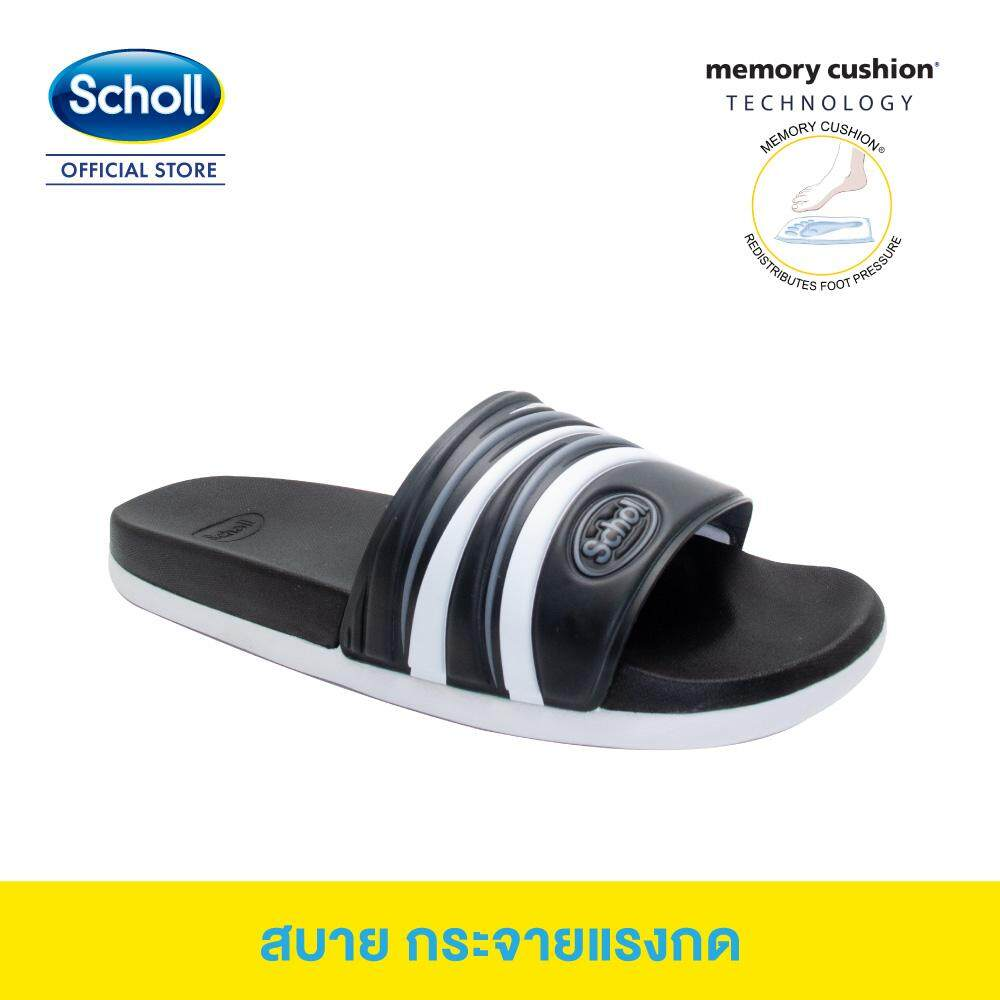 Scholl รองเท้าสกอลล์-สตรีม Stream รองเท้าแตะสวม Unisex รองเท้าสุขภาพ เหมาะกับรองช้ำ นุ่มสบาย.