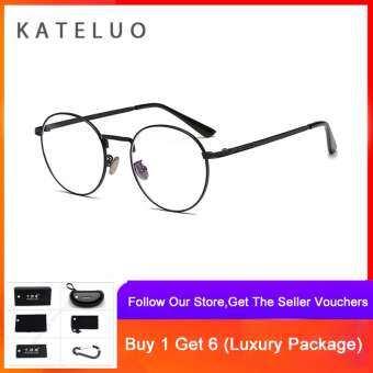 KATELUO แว่นกรองแสง แว่นถนอมสายตา แว่นตากรองแสงสีฟ้า แว่นกรองแสงคอมพิวเตอร์ ป้องกันUV400 ช่วยลดอาการสายตาล้า ใส่ได้ทั้งผู้หญิงและผู้ชาย – 1001
