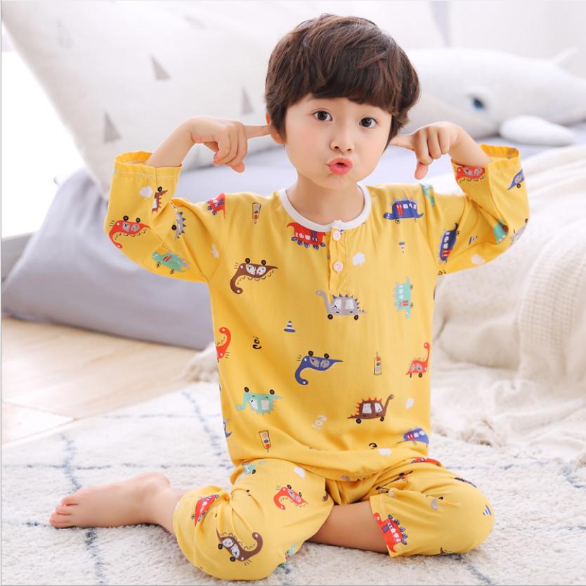 ชุดนอนเด็ก ชุดนอนเด็กผู้ชายสำหรับหน้าร้อนผ้าสปันคอตตอนซิลค์ บางนิ่มใส่สบายคลายร้อน (มีสินค้าพร้อมส่งจาก กทม แถมของเล่นทุุกชุดจ้าา).