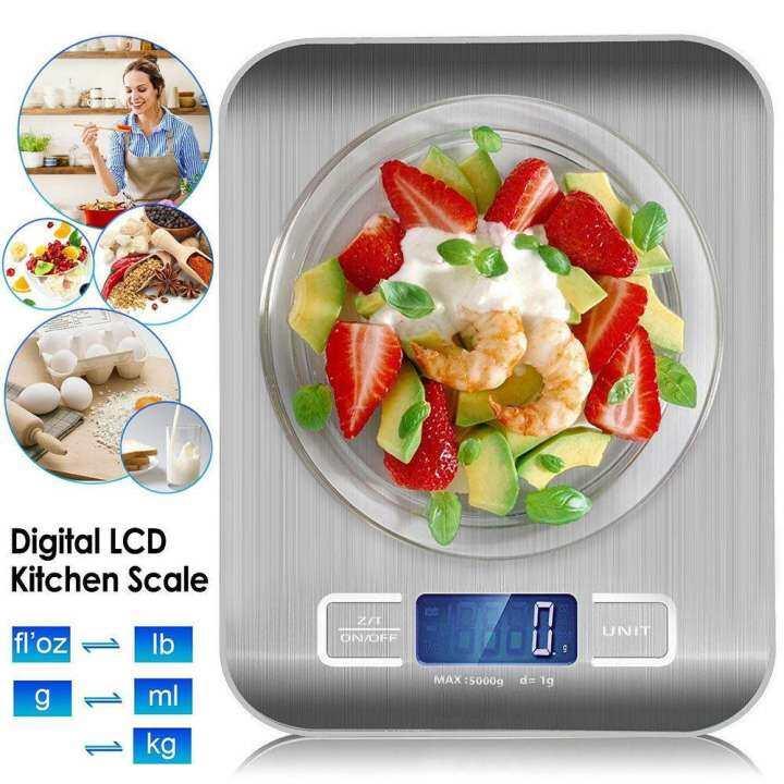 ใหม่ ! เครื่องชั่งดิจิตอล สูงสุด 5 กิโลกรัม Kitchen Scale Digital Scale เครื่องชั่งในครัว เครื่องชั่งอาหาร เครื่องชั่งขนม ตาชั่งดิจิตอล แบบพกพา เครื่องชั่ง ตาชั่ง ที่ชั่งอาหาร ตราชั่งดิจิตอล + แถมถ่าน