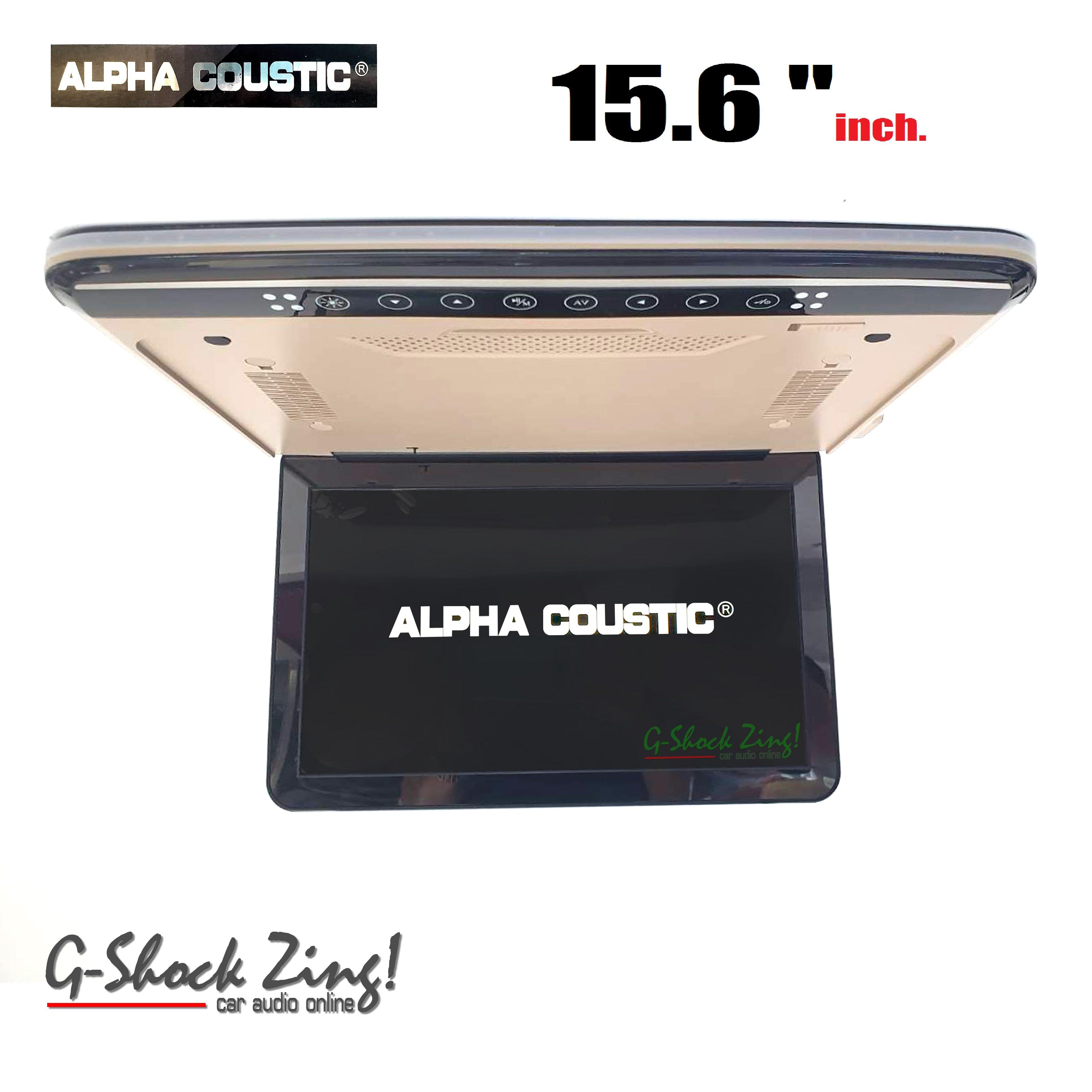 Alpha Coustic Roofmount Monitor เครื่องเสียงรถยนต์/จอเพดานติดรถยนต์ ขนาดจอ 15.6นิ้ว Hdmi In /usb Slot/sd Slot (สี Beige).