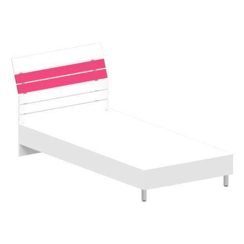 Kritsada. เตียงนอนหัวระแนง เมลามีน ขนาด 3.5 ฟุต รุ่น B-3545 สีขาว/ชมพู By Natcha2.