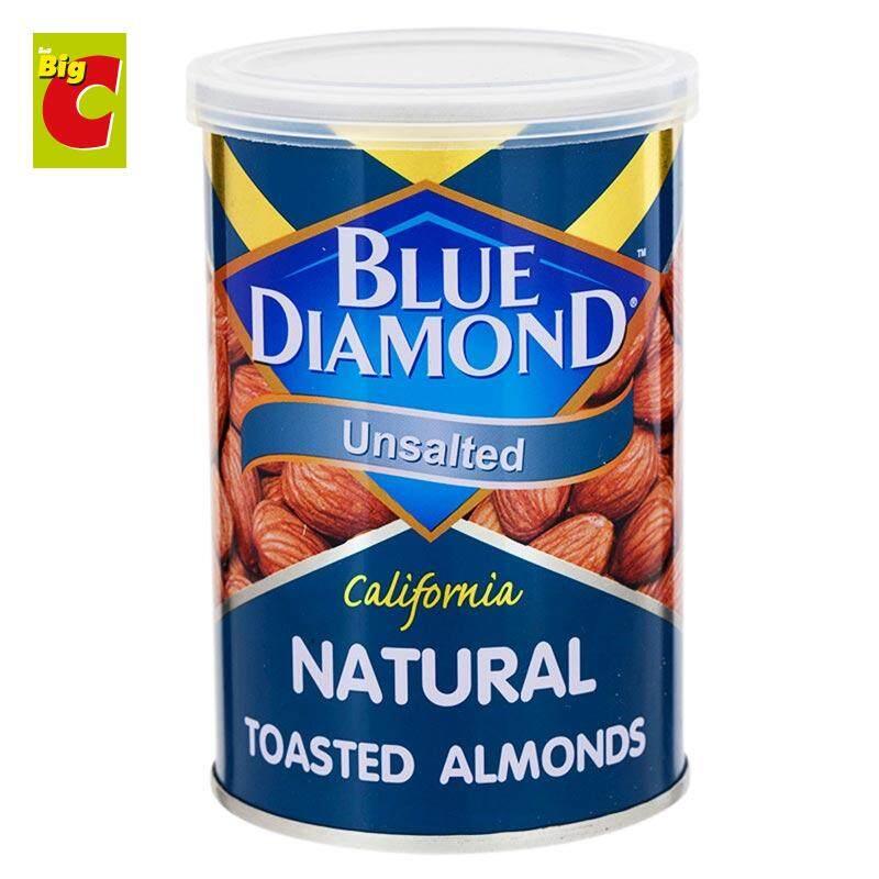 บลูไดมอนด์ อัลมอนด์อบ รสธรรมชาติ 130 กรัม.