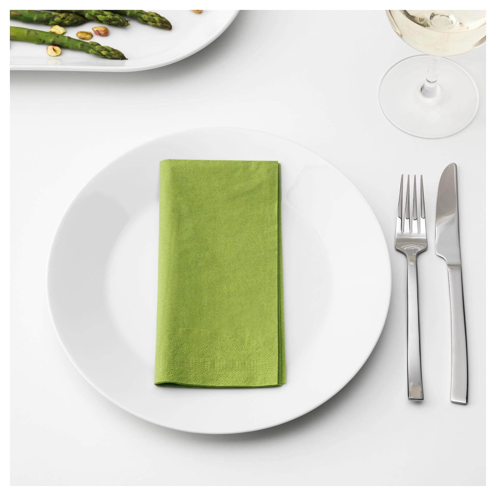 Fantastisk ฟันทัสติสค์ กระดาษเช็ดปาก มีเดียมกรีน กระดาษเช็ดปากหนา 3 ชั้น จาก Ikea By Spa Land.