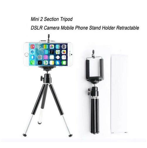 Mini 2 ขาตั้งกล้อง Dslr กล้องมือถือ Phone Stand ผู้ถือ Retractable / Mini 2 Section Tripod Dslr Camera Mobile Phone Stand Holder Retractable.