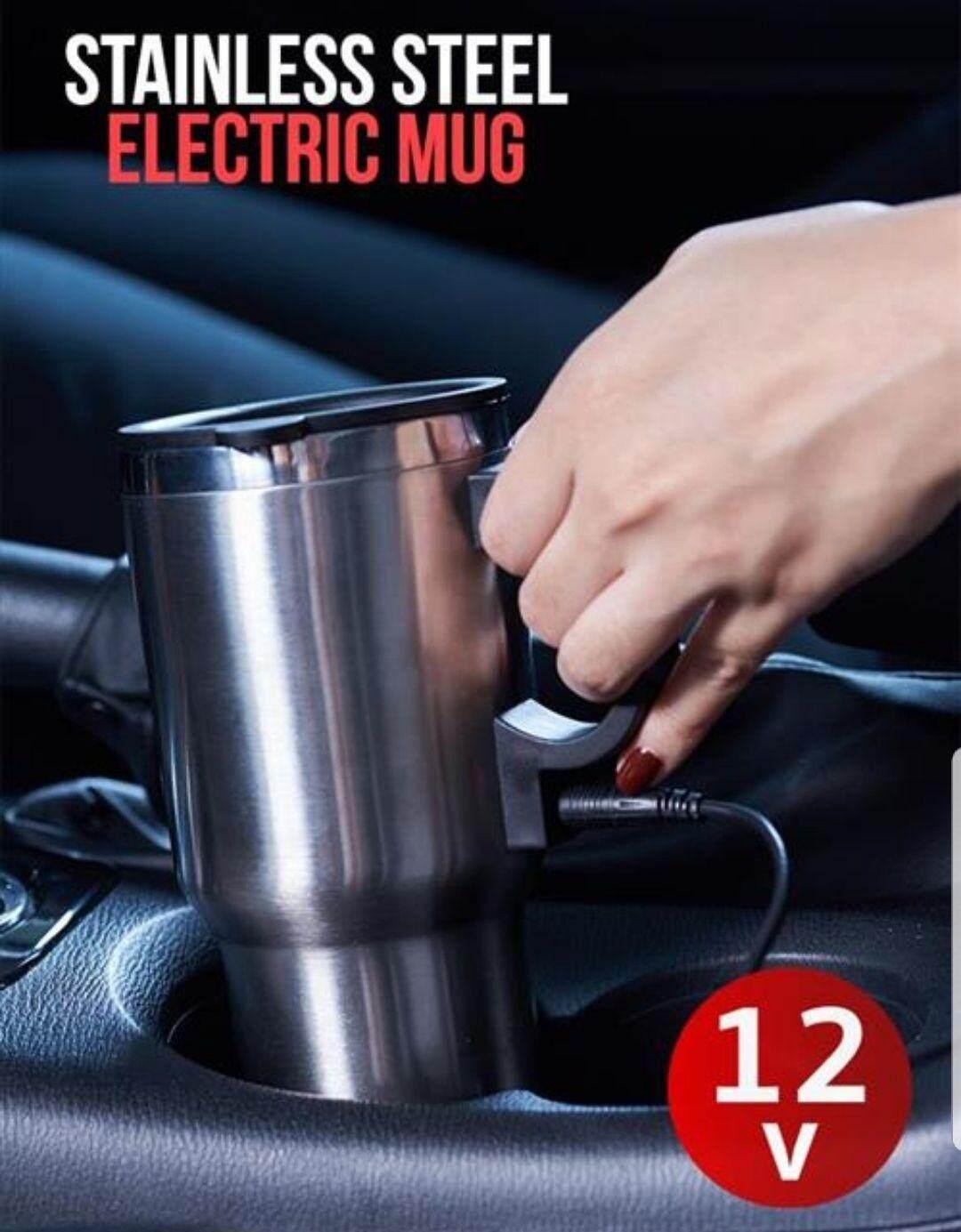 แก้วอุ่นเครื่องดื่มร้อนในรถยนต์ แก้วอุ่นการแฟร้อน แก้วอุ่นนมร้อน แก้วทำความร้อนในรถยนต์ แก้วต้มน้ำร้อนติดรถยนต์ By Kungza Shop.