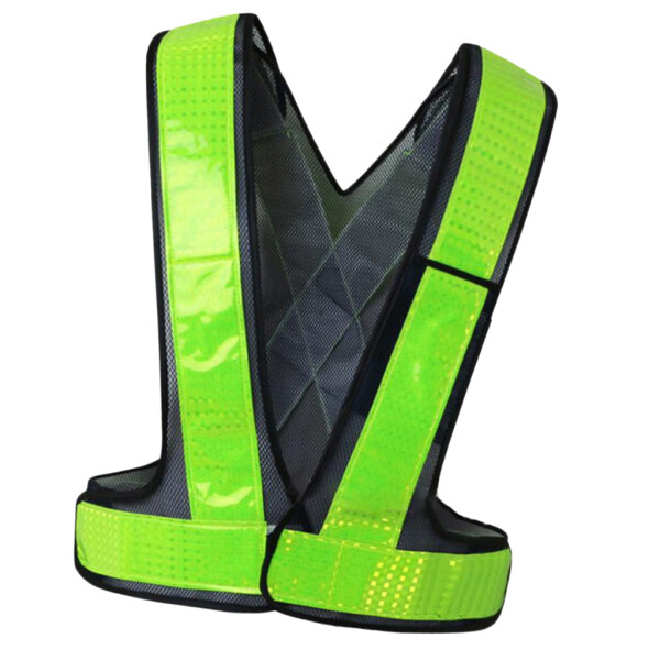 Perfk Reflective Safety Vest High Visibility Safety Sleeveless Shirt Waistline 118