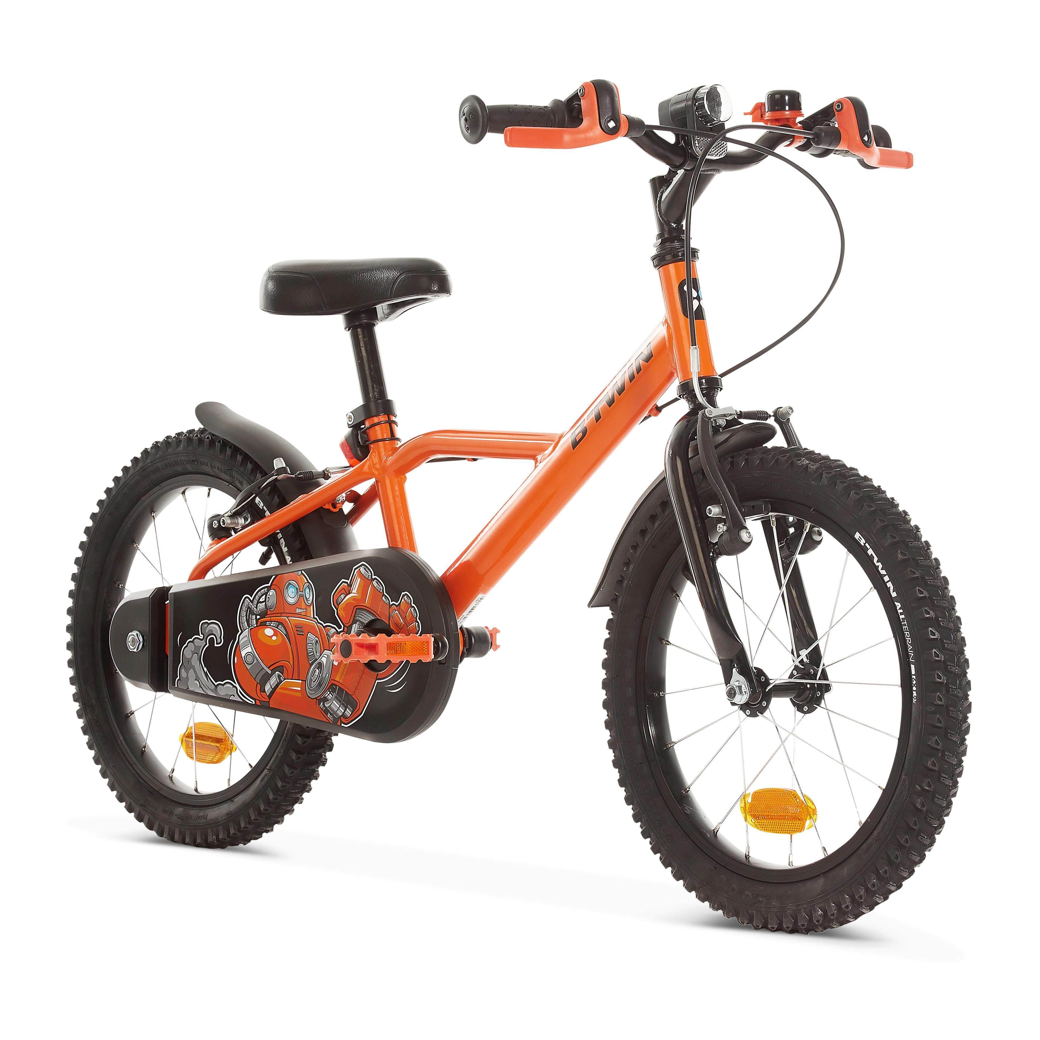[ถูกยิ่งกว่าพายุเข้า!!] จักรยานรุ่น 500 ขนาด 16 นิ้วสำหรับเด็ก 4-6 ขวบ (ลาย ROBOT) สำหรับ จักรยานไฮบริดและทัวว์ริ่ง