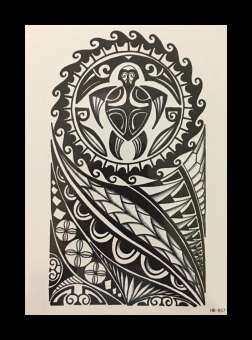 แนะนำ Tattoo Sticker สติ๊กเกอร์แทททู รอยสักชั่วคราว ขนาด 15x21 ซม. HB-857