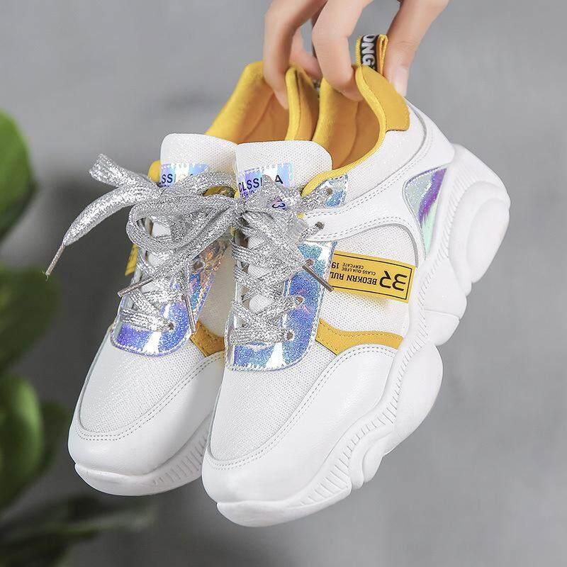 2019 New Fashion Diva รองเท้าผ้าใบแฟชั่น สไตล์เกาหลี พื้นหมี By Fin Tech.