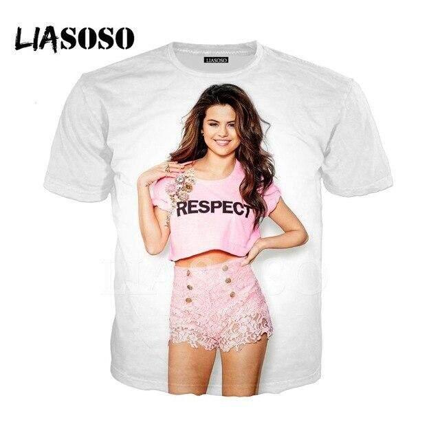 Women Men Funny 3D Denim Print Style Casual T-Shirt Short Sleeves Slim Fit Tee