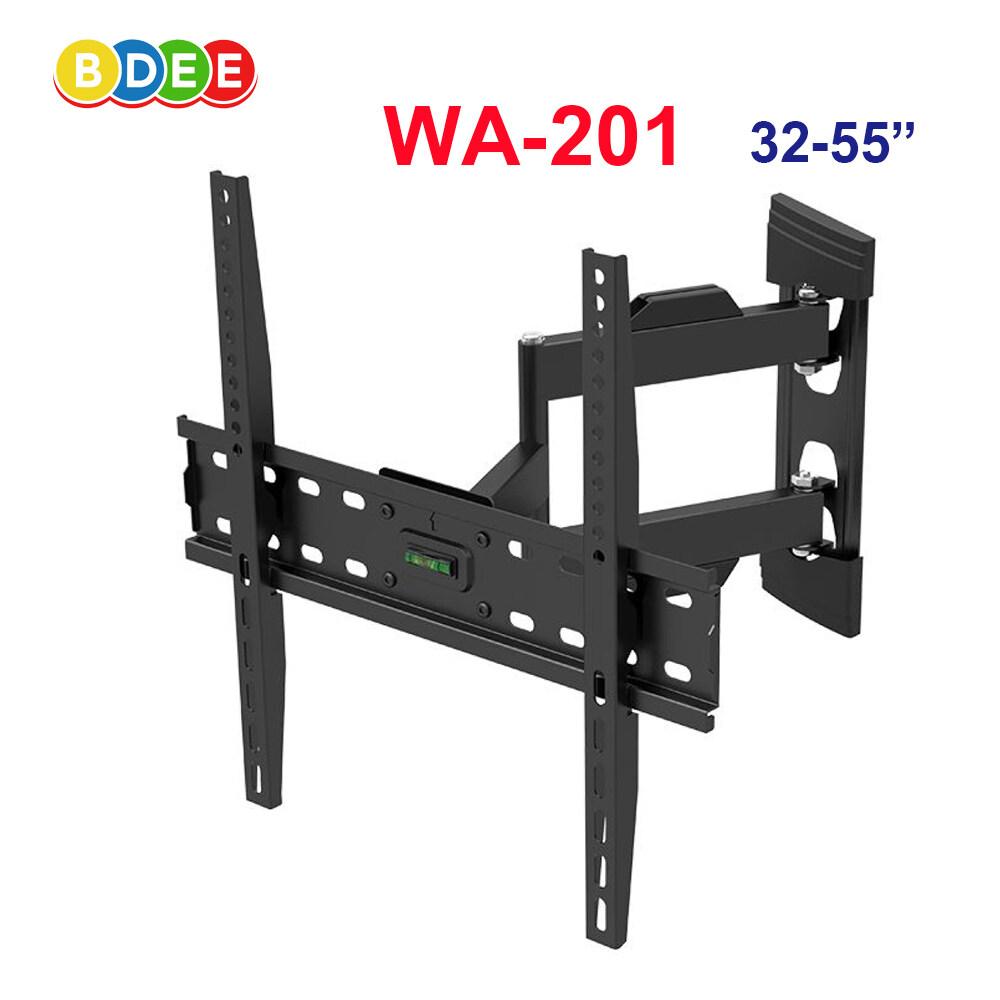 Bdee ขาแขวนทีวี ขนาด 32-55 นิ้ว รุ่น Wa-201 (ติดผนัง, ปรับยืด-หดได้, ปรับก้มได้).