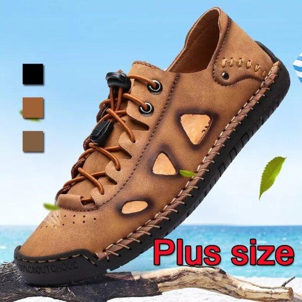 (San zu) dép xỏ ngón cho giày da nam cộng với size giày casul thoáng khí mùa hè 38-48 giá rẻ