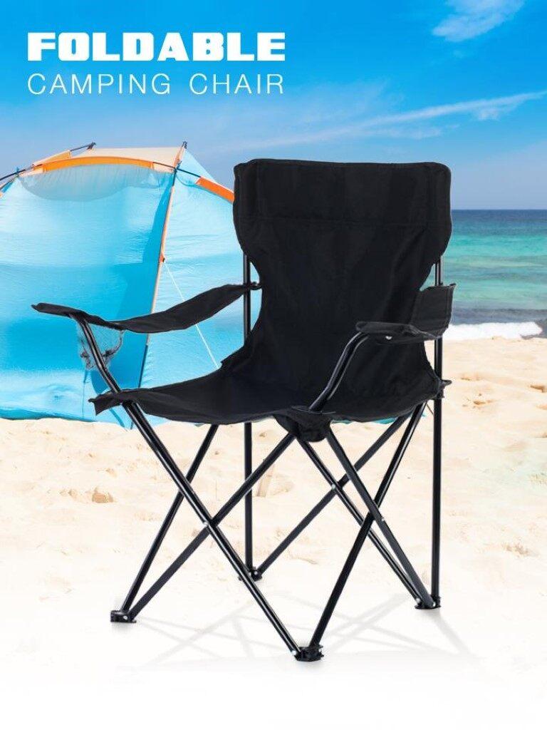 เก้าอี้สนามพับได้ ชุดเก้าอี้สนามแบบพับได้ บรรจุอยู่ในกระเป๋าหูหิ้ว สะดวกต่อการพกพา วัสดุ : เหล็กและผ้าใบ Oxford..