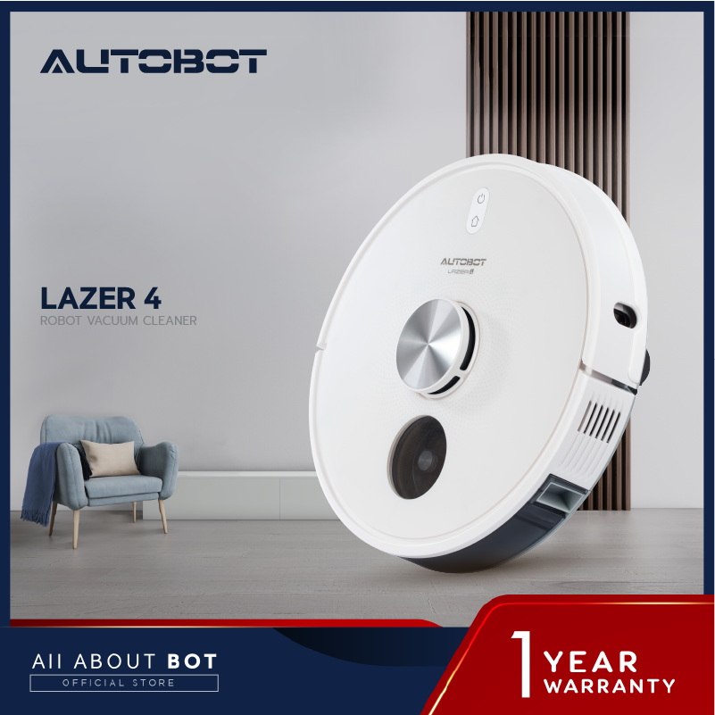หุ่นยนต์ดูดฝุ่น Autobot Laser 4 ระบบ Cyclone แรงดูดสูงสุด 8,000 PA