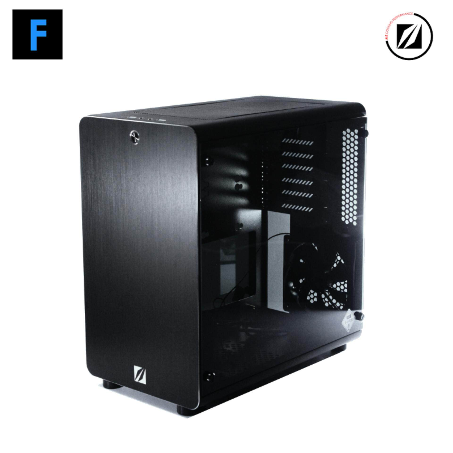 Alz X5 เคสคอมพิวเตอร์อลูมิเนียม [สีดำ/สีเงิน] (max M/b Size : Atx) By Frostnext.