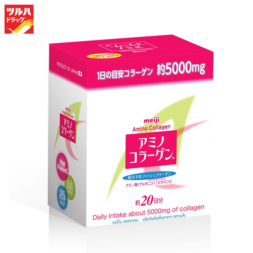 Meiji Amino Collagen Refill 140 G / เมจิอะมิโนคอลลาเจน ถุงรีฟิล 140 ก..
