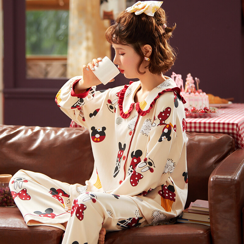 Long sleeve with elbow patches and thumbhole cuffs FOREST Thermal Jammies pajama set and great gift for her Matching top and leggings.