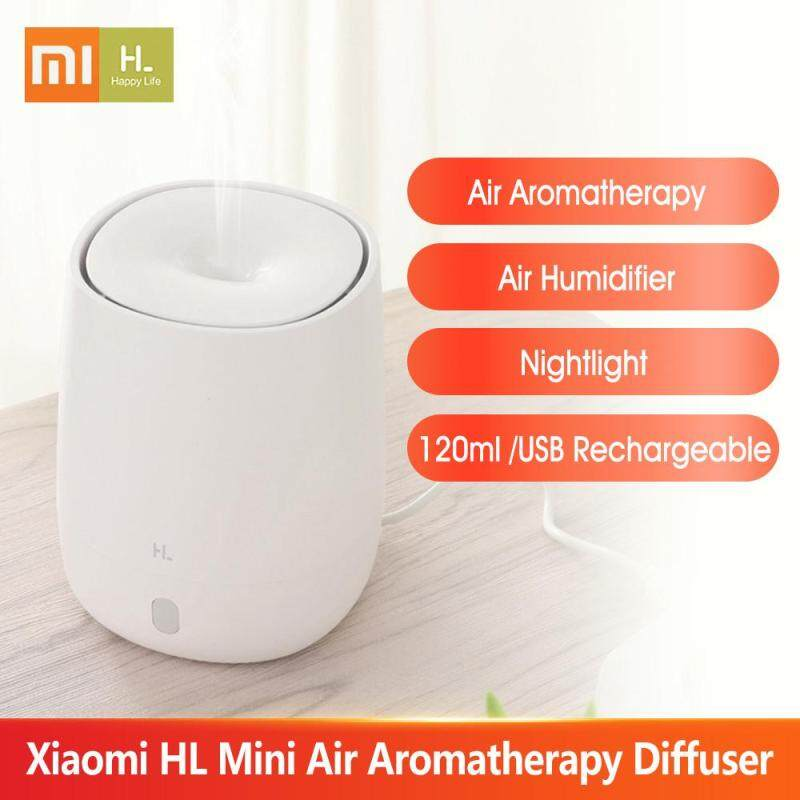 Xiaomi HL Mini Air Aromatherapy Diffuser Portable USB Humidifier Quiet Aroma Mist Maker with Nightlight for Car Home Office Yoga 120ml Singapore