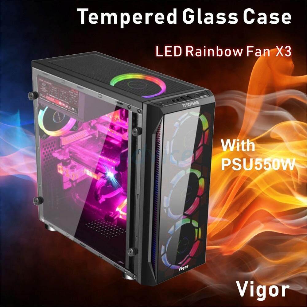 Itsonas เคสคอมพิวเตอร์ Atx Case Vigor Rainbow (black) By Nookky Shop.