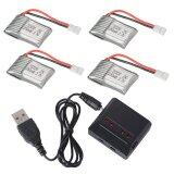 ซื้อ 4X 3 7V 25C 250Mah Battery 4In1 Usb Charger For Udi U816A U830 Helicpoter Unbranded Generic ออนไลน์