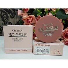 ขาย ☆01 สีชมพู ☆ ปัดแก้ม ชามอน เนื้อแมท Chamon Pro Make Up Blusher บลัชออนสุดฮิต ที่น้องฉัตรแนะนำให้ใช้ Chamonix เป็นต้นฉบับ