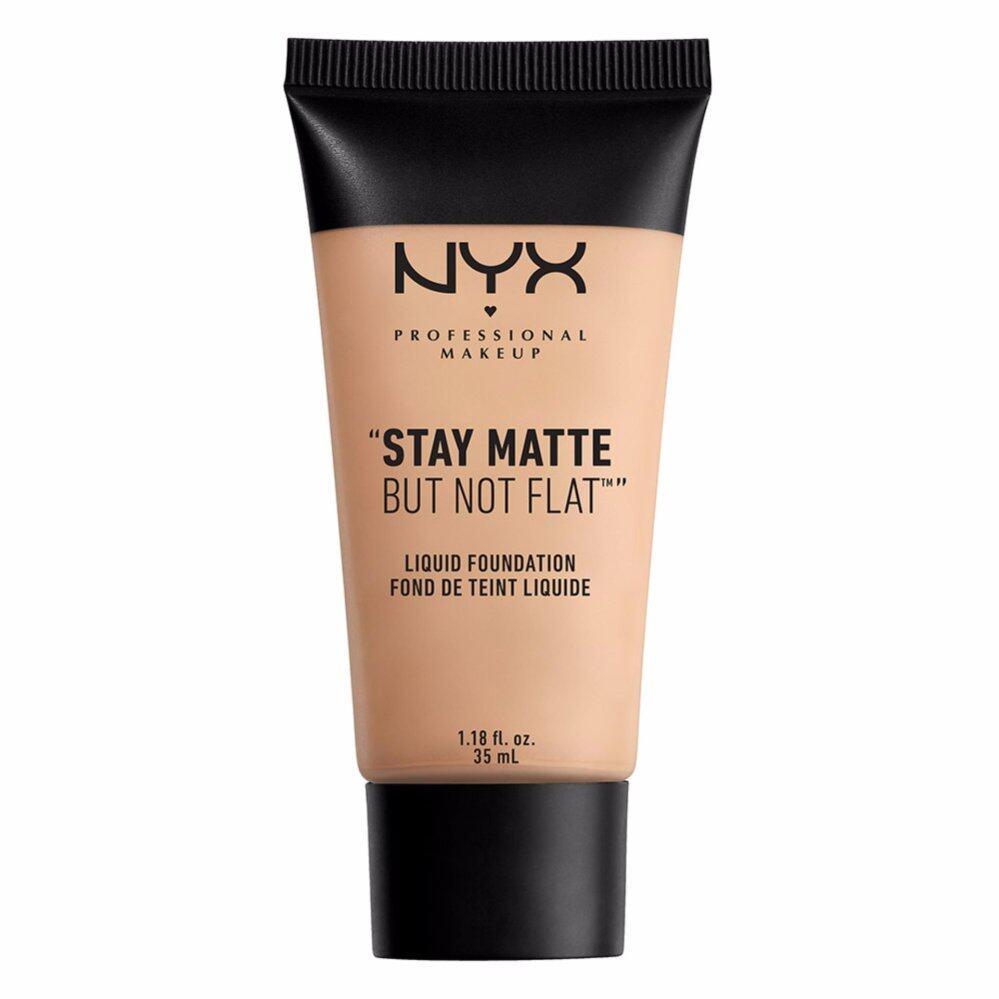 นิกซ์ โปรเฟสชั่นแนล เมคอัพ สเตย์ แมท บัท น็อท แฟลท ลิควิค ฟาวเดชั่น - SMF04 ครีมมี่ เนเชอรัล รองพื้น NYX Professional Makeup Stay Matte But Not Flat Liquid Foundation - SMF04 Creamy Natural ( เครื่องสำอาง _ ครีมรองพื้น_ รองพืนเนื้อแมท )