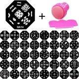 ราคา 10Pcs Random Pattern Women S Fashion Nail Art Printing Image Polish Stamp Plate Scraper Stamper Kit 10Pcs Random Pattern เป็นต้นฉบับ Unbranded Generic