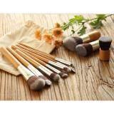 ราคา 11 Piece Brush Set Soft Bristled Wooden Handle With Bag Unbranded Generic กรุงเทพมหานคร