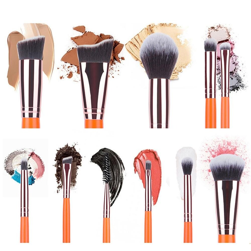 11PCS Make Up Foundation Eyebrow Eyeliner Blush Cosmetic Concealer Brushes - intl