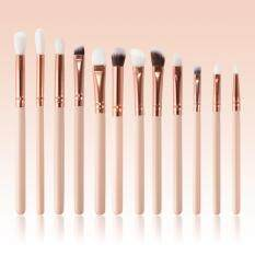 ซื้อ 12Pcs Eye Makeup Brush Rose Gold Set Eyeshadow Eyebrow Eyeliner Brush Kit Unbranded Generic ออนไลน์