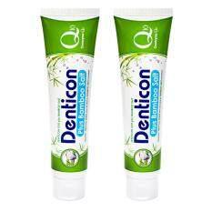 ราคา เดนติคอน ยาสีฟัน คิวเท็น พลัสแบมบูซอลท์ 150 กรัม 2 ชิ้น Denticon เป็นต้นฉบับ