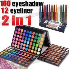 ราคา 180 Color Eyeshadow 12Pcs Eyeliner Pencil Shimmer Matte Eye Shadows Eye Makeup เป็นต้นฉบับ