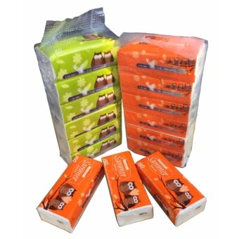 กระดาษทิชชู่ กระดาษเช็ดหน้า หนา 2 ชั้น ตรา SAMMER ผลิตจากเยื่อกระดาษบริสุทธิ์ 150แผ่น/ห่อ 6 ห่อ/แพ็ค (900 แผ่น/แพ็ค)