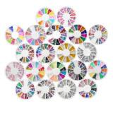 ทบทวน 20 Wheel Mixed Nail Art Tips Rhinestones Glitters Slice Decoration Manicure Unbranded Generic