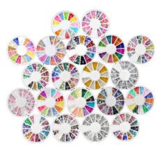 โปรโมชั่น 20 Wheel Mixed Nail Art Tips Rhinestones Glitters Slice Decoration Manicure ถูก