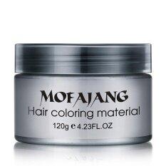 2017 Diy Hair Clay Wax Mud Dye Cream Grandma Hair Ash Dye Temporary 7 Colors Intl ฮ่องกง