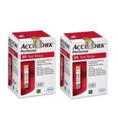 ทบทวน ที่สุด 25 ชิ้น X 2 กล่อง Accu Chek Performa Test Strip แผ่นตรวจวัดระดับน้ำตาลในเลือด